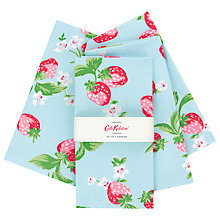 Buy Cath Kidston Strawberry Napkins, Set of 4 Online at johnlewis.com