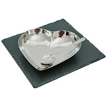 Buy Just Slate Heart Fusion Dish & Spoon Set Online at johnlewis.com