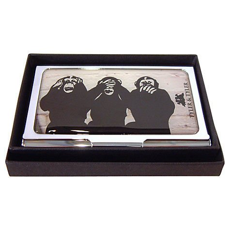 Buy Tyler & Tyler Three Wise Monkeys Business Card Holder Online at johnlewis.com