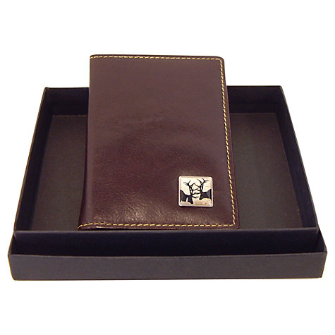 Buy Tyler & Tyler Leather Rut Card Holder, Brown Online at johnlewis.com