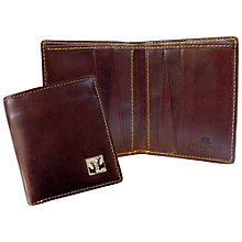 Buy TYLER & TYLER Rut Leather Wallet, Brown Online at johnlewis.com