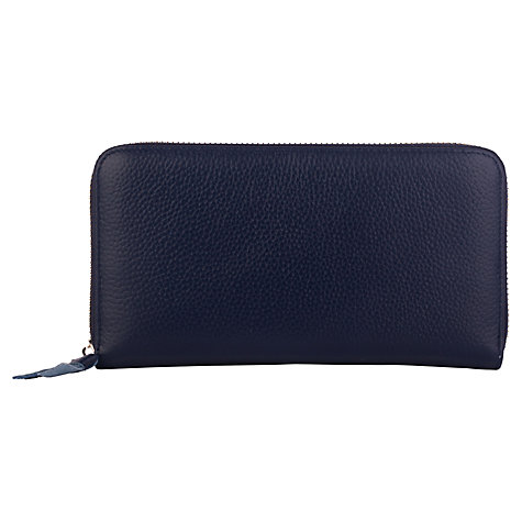 Buy Smith & Canova Leather Formal Long Purse, Navy Online at johnlewis.com