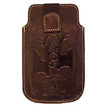 Buy TYLER & TYLER Leather Rut iPhone Case, Brown Online at johnlewis.com