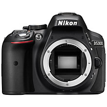 "Buy Nikon D5300 Digital SLR Camera, HD 1080p, 24.2MP, Wi-Fi, 3.2"" Screen, Body Only with FREE Accessory Kit Online at johnlewis.com"