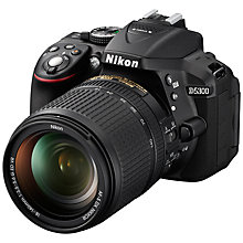 "Buy Nikon D5300 Digital SLR Camera with 18-140mm VR Lens, HD 1080p, 24.2MP, Wi-Fi, 3.2"" Screen + Adobe Photoshop Elements 13 Online at johnlewis.com"
