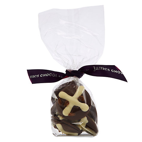 Buy James Chocolates Milk Chocolate Hot Cross Bun Discs, 130g Online at johnlewis.com
