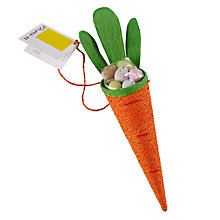 Buy Farhi Orange String Carrot with Milk Chocolate Eggs, 40g Online at johnlewis.com