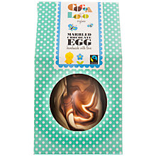 Buy Cocoa Loco Marbled Chocolate Egg, 225g Online at johnlewis.com