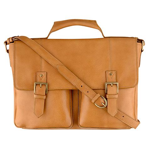 Buy Hidesign Charles Large Briefcase, Honey Online at johnlewis.com