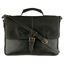 Buy Hidesign Charles Large Briefcase, Green Online at johnlewis.com