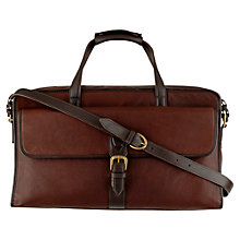 Buy Hidesign Harrison Leather Holdall, Brwon Online at johnlewis.com