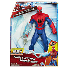 "Buy Spider-Man Triple Attack 10"" Figure Online at johnlewis.com"