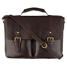 Buy Hidesign Charles Leather Briefcase, Brown Online at johnlewis.com
