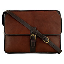 Buy Hidesign Harrison Leather Messenger Bag, Brown Online at johnlewis.com