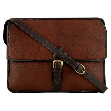 Buy Hidesign Harrison Large Zip Top Despatch Bag, Brown Online at johnlewis.com