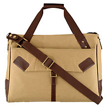 Buy Hidesign Drake Large Zip Top Holdall, Khaki Online at johnlewis.com