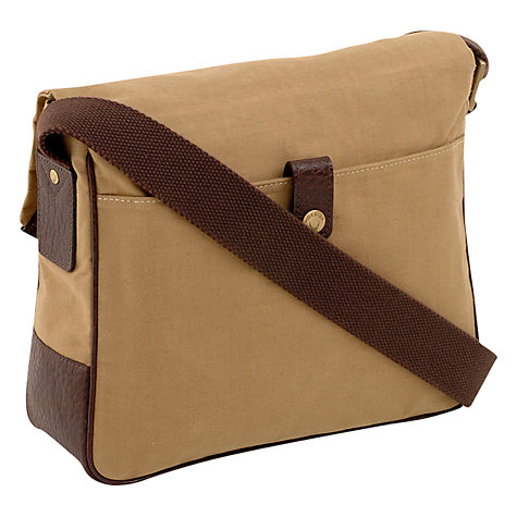 Buy Hidesign Drake Waxed Canvas Poacher Bag, Khaki Online at johnlewis.com