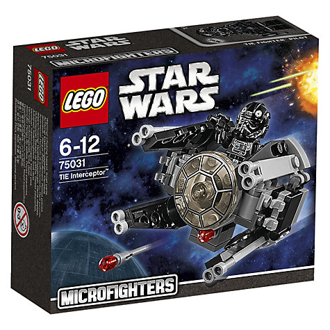 Buy LEGO Star Wars Microfighters TIE Interceptor Online at johnlewis.com