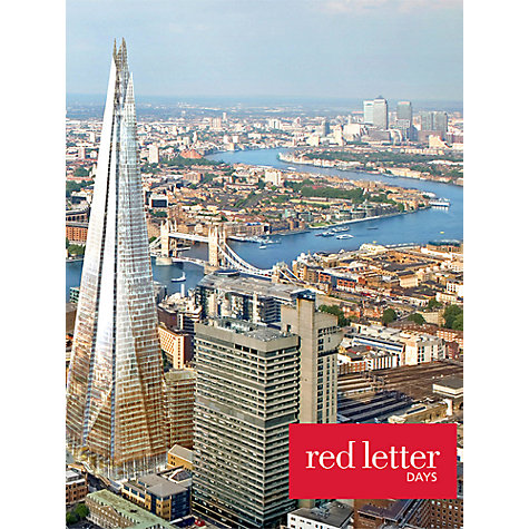Buy Red Letter Days Shard and Tea for 2 Online at johnlewis.com