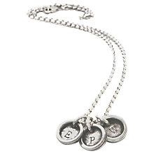 Buy Twisted Typist Personalised Typewriter Necklace, 3 Charm Online at johnlewis.com