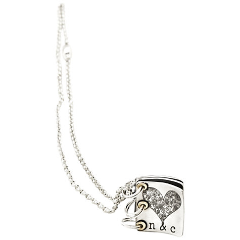 Buy Twisted Typist Personalised Story Book Cover Necklace, 2 Page Online at johnlewis.com