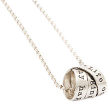 Buy Twisted Typist Personalised Ladies Rumours Necklace Online at johnlewis.com
