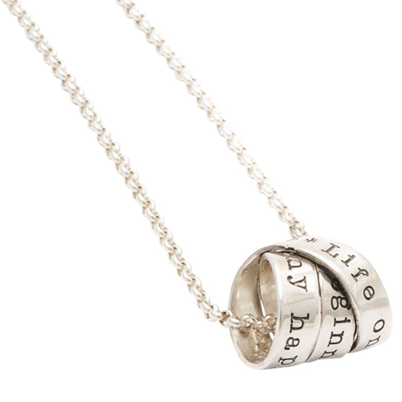 Twisted Typist Twisted Typist Personalised Ladies Rumours Necklace