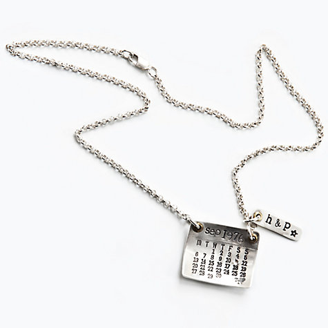 Buy Twisted Typist Personalised Mark The Day Calendar Ribbon Necklace Online at johnlewis.com