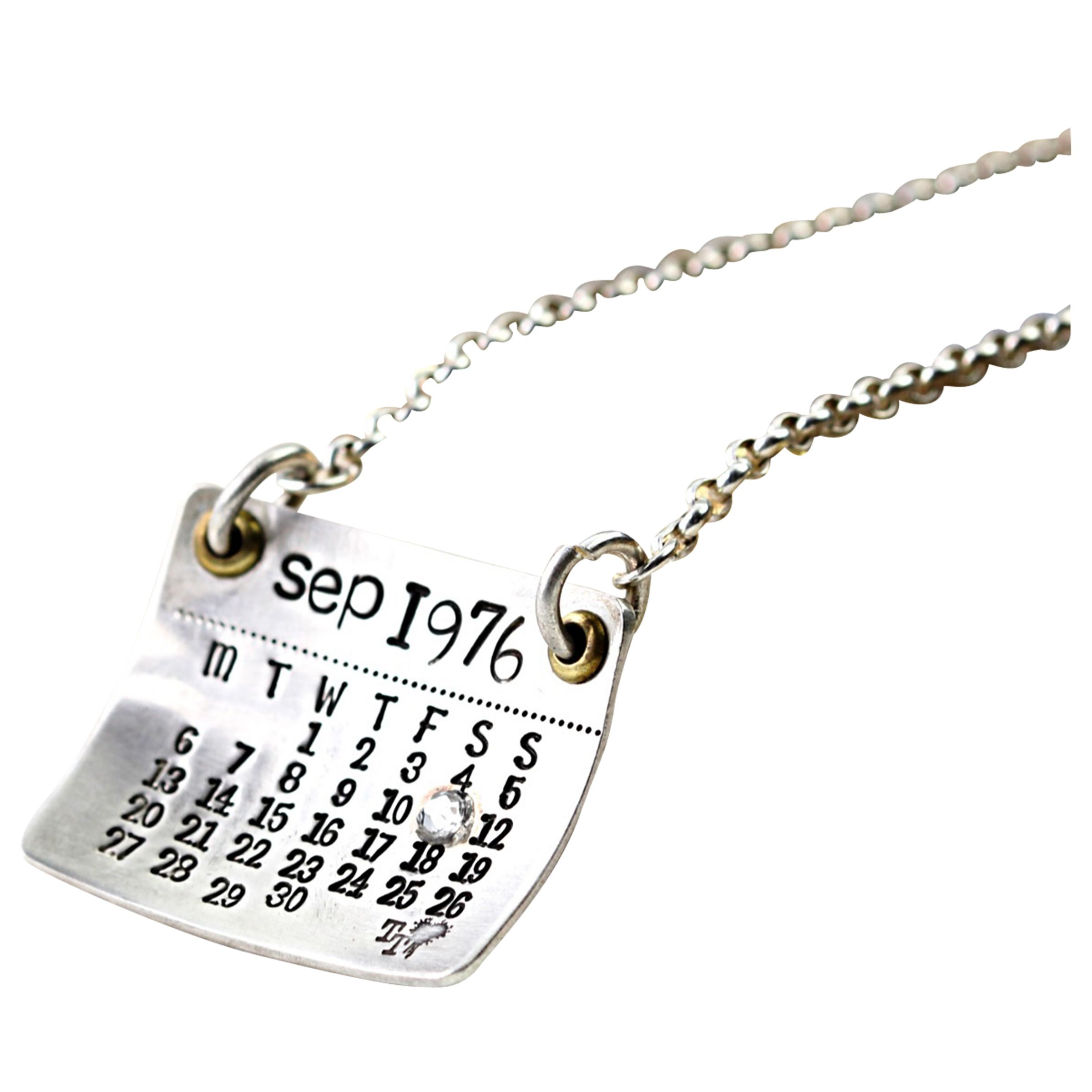 Twisted Typist Twisted Typist Personalised Mark The Day Calendar Necklace