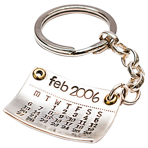 Buy Twisted Typist Personalised Mark The Day Calendar Keyring Online at johnlewis.com