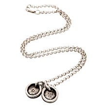 Buy Twisted Typist Personalised Typewriter Necklace, 2 Charm Online at johnlewis.com