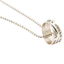 Buy Twisted Typist Personalised Men's Rumours Necklace Online at johnlewis.com