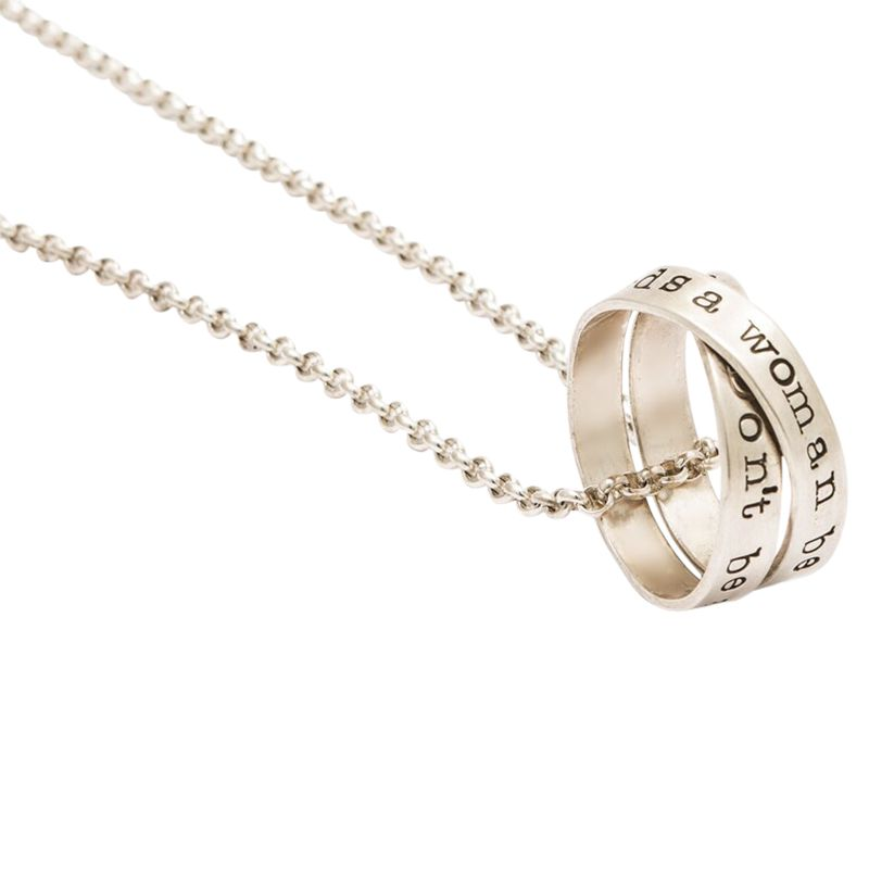 Twisted Typist Twisted Typist Personalised Men's Rumours Necklace