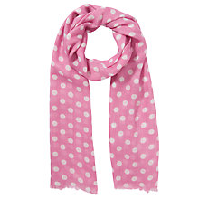 Buy John Lewis Girl Polka Dot Scarf, Pink Online at johnlewis.com