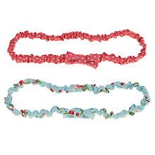 Buy John Lewis Girl Ruched Headbands, Pack of 2, Pastels Online at johnlewis.com