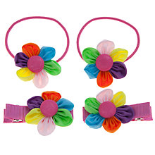Buy John Lewis Girl 4-Piece Flower Hair Set, Multi Online at johnlewis.com