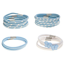 Buy John Lewis Girl Butterfly Hairbands, Pack of 16, Blue Online at johnlewis.com