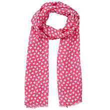 Buy John Lewis Girl Pink Heart Print Scarf, Pink Online at johnlewis.com