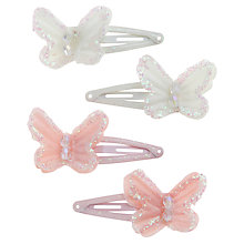 Buy John Lewis Girl Mini Organza Butterfly Clips, Pack of 4, Multi Online at johnlewis.com