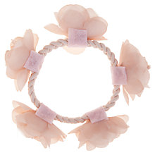 Buy John Lewis Girl Flower Hair Topper, Pink Online at johnlewis.com