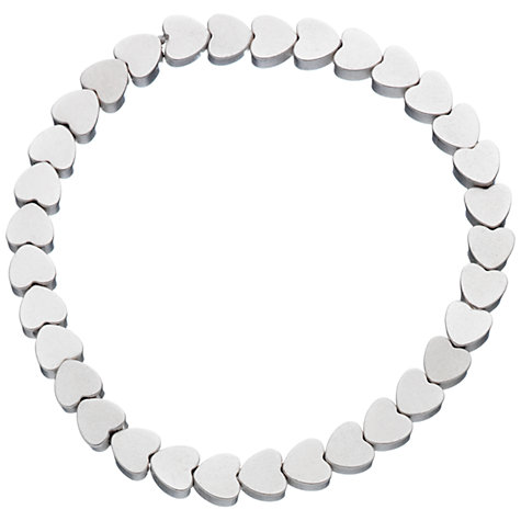 Buy Little Ella Ellie Mini Hearts Bracelet, Silver Online at johnlewis.com