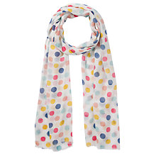 Buy John Lewis Girl Polka Dot Scarf, Multi Online at johnlewis.com