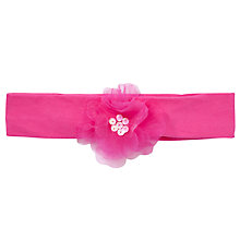 Buy John Lewis Girl Organza Flower Jersey Headband, Pink Online at johnlewis.com