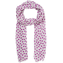Buy John Lewis Girl Purple Star Print Scarf, Purple Online at johnlewis.com