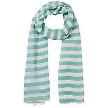 Buy John Lewis Girl Stripe Scarf, Turquoise Online at johnlewis.com