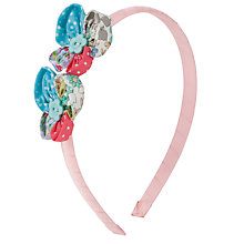 Buy John Lewis Girl Floral Applique Alice Band, Multi Online at johnlewis.com