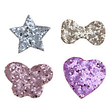 Buy John Lewis Girl Glitter Hair Patches, Pack of 4, Multi Online at johnlewis.com