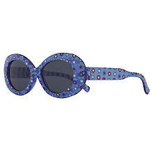 Buy John Lewis Girl Flowered Fruit Sunglasses, Blue Online at johnlewis.com