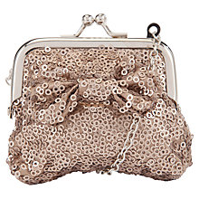 Buy John Lewis Girl Sequin Bow Purse Bag, Gold Online at johnlewis.com