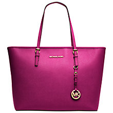Buy MICHAEL Michael Kors Jet Set Leather Travel Tote Online at johnlewis.com